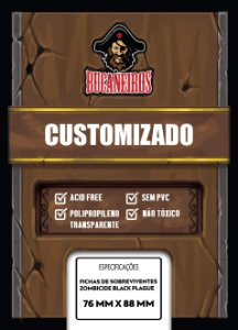 Sleeves Customizados Fichas de Sobreviventes Zombicide Black Plague (76 mm x 88 mm) - Bucaneiros
