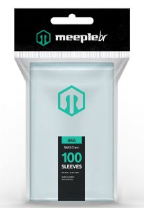 Sleeves Premium Padrão USA (56 mm x 87 mm) - Meeple BR