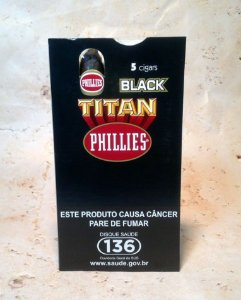 Caixa de charuto TITAN BLACK C/ 5 unidades