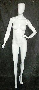 Manequim feminino fitness de fibra mao na cintura