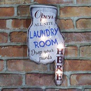 Placa Decorativa com Led Laundry Room