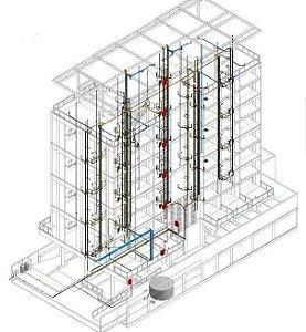 Revit MEP completo  ( Elétrica, Hidráulico, Ar condicionado e preventivo de incêndio)