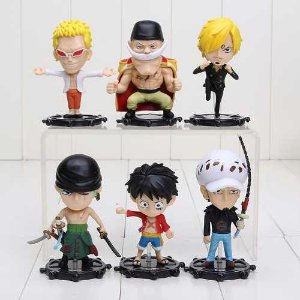 One Piece Luffy Zoro Sanji Kit Com 6 Peças