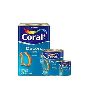 TINTA DECORA SEDA LAVÁVEL CORAL 18 L 3,6 L 900 ML
