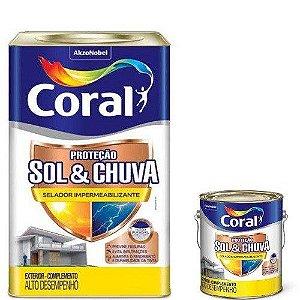 PROTEÇÃO SOL E CHUVA SELADOR IMPERMEABILIZANTE CORAL