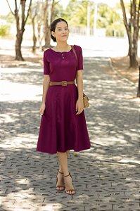 Vestido Bordô