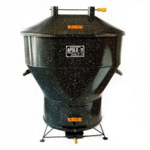 Churrasqueira a Bafo - Apolo 11 - Gás ou Carvão - Capacidade para 25 quilos de carne.
