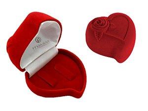 Caixinha Coração - Veludo Vermelha