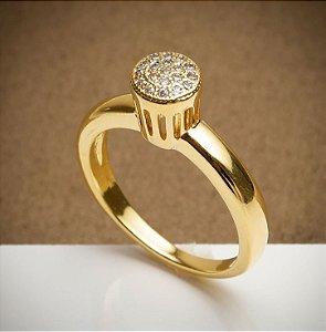 Anel Chuveiro - 3 Camadas de Ouro 18k