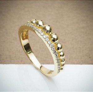 Anel Stile Luxo - 3 Camadas de Ouro 18k