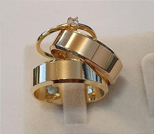 Kit (58) Italianas - 3 Camadas de Ouro 18k