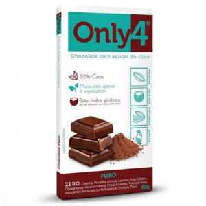 CHOCOLATE 70% CACAU SABOR PURO ONLY4 80g