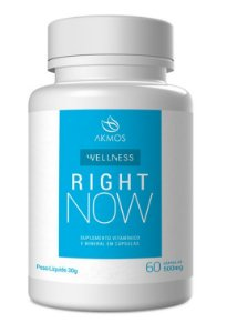 RIGHT NOW NUTRIÇÃO 60 CÁPSULAS AKMOS 500mg