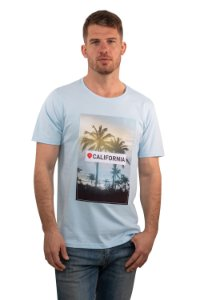 CAMISETA MANGA CURTA ESTAMPA CALIFORNIA AZUL BRISA
