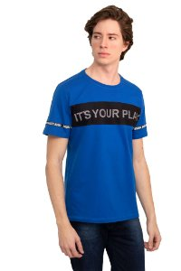 CAMISETA MANGA CURTA ITS YOUR PLAY AZUL IMPERIO