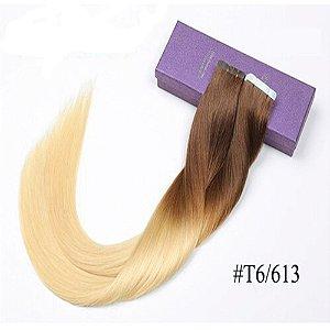 Mega Hair Fita Adesiva Humano Ombre Hair 50cm 20 peças 50g