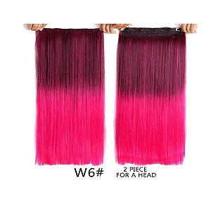 Aplique Tic Tac Fibra Orgânico Rosa Pink 55cm