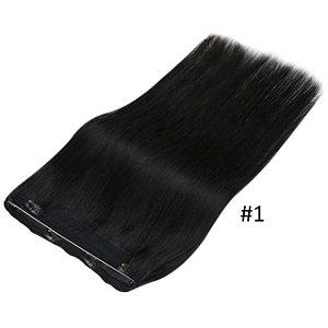Mega Hair Cabelo Humano Linha invisível Liso 50 cm 80g