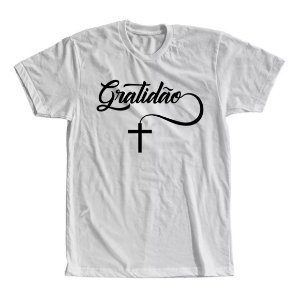 Camiseta Gratidão com Cruz