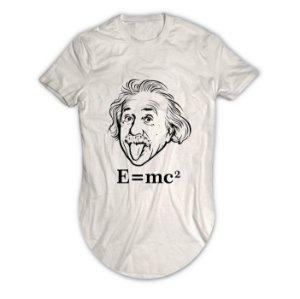 Camiseta Longline Albert Einstein E=mc2