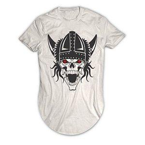 Camiseta Longline Caveira Viking