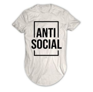 Camiseta Longline Anti  Social