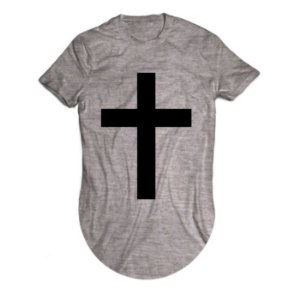 Camiseta Longline Cruz Cristã