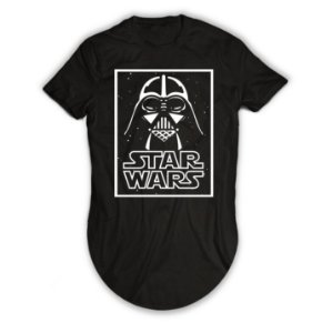 Camiseta Longline Darth Vader Star Wars