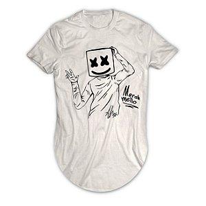Camiseta Longline Dj Marshmello OK