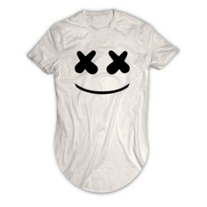 Camiseta Longline Dj Marshmello Face