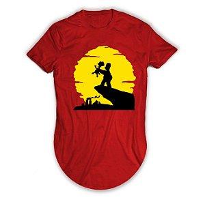 Camiseta Longline Os Simpsons Rei Leão