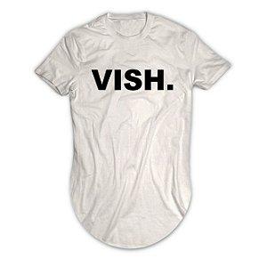 Camiseta Longline Escrita Vish