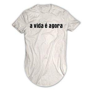 Camiseta Longline A Vida é Agora