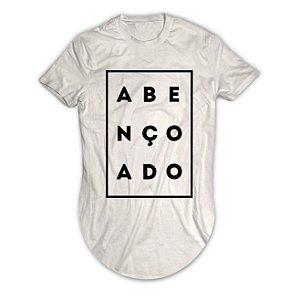 Camiseta Longline Abençoado