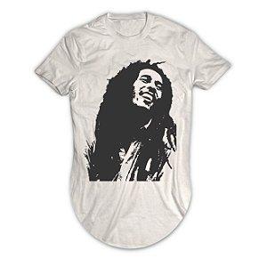 Camiseta Longline Bob Marley Face
