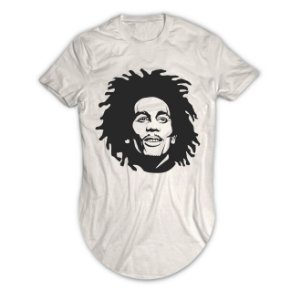 Camiseta Longline Bob Marley No Woman, No Cry