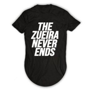 Camiseta Longline The Zueira Never Ends