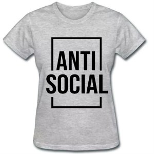 Camiseta Baby Look Anti Social