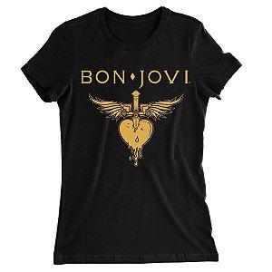 Camiseta Baby Look Bon Jovi