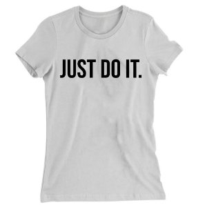 Camiseta Baby Look  Just do It