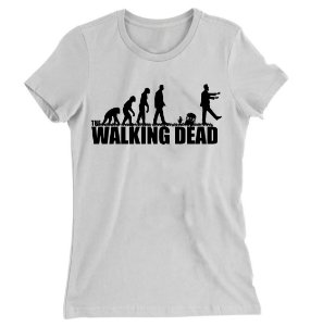 Camiseta Baby Look The Walking Dead Evolução