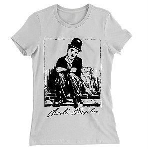 Camiseta Baby Look Charlie  Chaplin