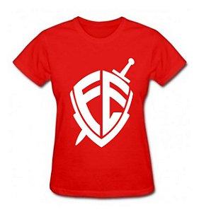 Camiseta Baby Look Escudo Fé