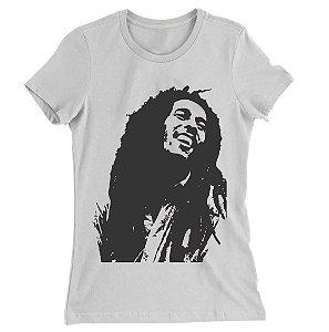 Camiseta Baby Look Bob Marley Face