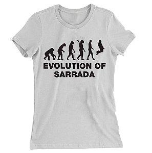 Camiseta Baby Look Evolution Of Sarrara