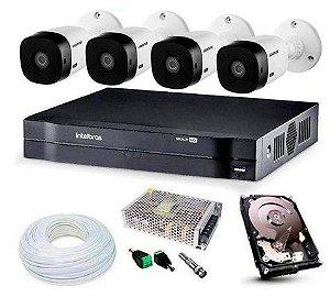 Kit Intelbras completo Alta definição - 4 Câmeras