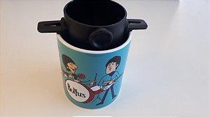 Kit Filtro de café inox  + Caneca Beatles