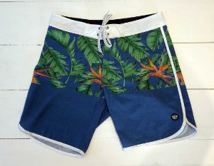 Bermuda Agua Retro Tropical Blue