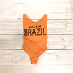 Body Made in Brazil laranja