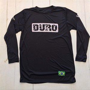 Camiseta Dry manga longa preto